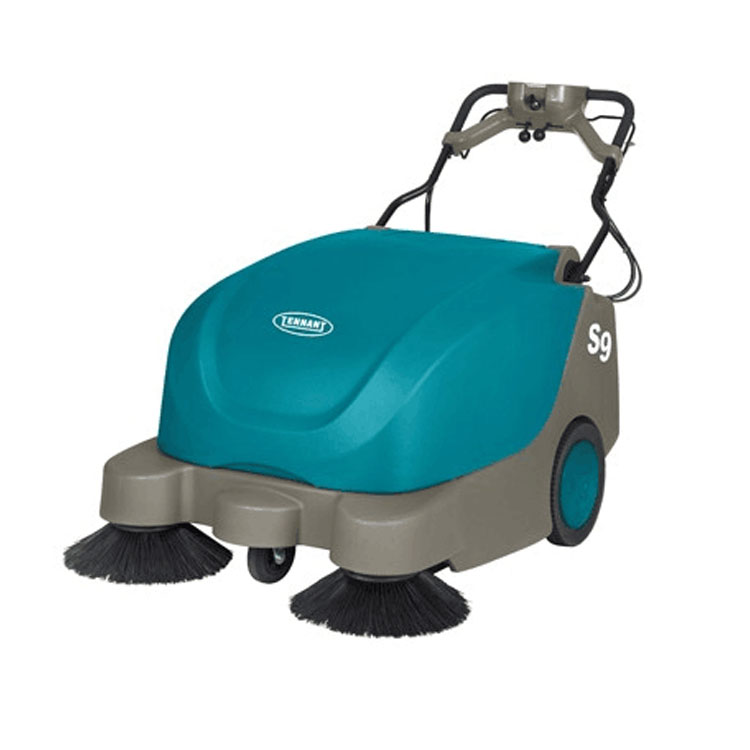 Tennant S9 large hand push battery sweeping machine